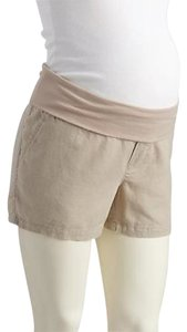 Old Navy NWT Old Navy Maternity Roll-Over beige linen blend shorts size XL NEW