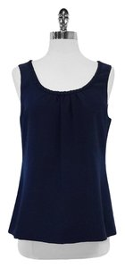 Kate Spade Silk Sleeveless Top Navy