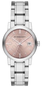 Burberry Burberry Stainless Steel 34mm Pink Dial Watch