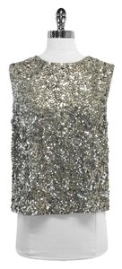 Vince Grey Sequin Sleeveless Top Silver