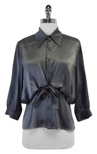Zac Posen Silk Shirt Button Down Shirt Grey