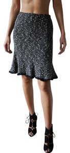 Nanette Lepore Pencil Wool Tissue Pilled Skirt black and white