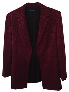 Tahari Red and Black Blazer