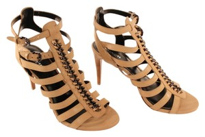 Coach Heels Chain Leather 4