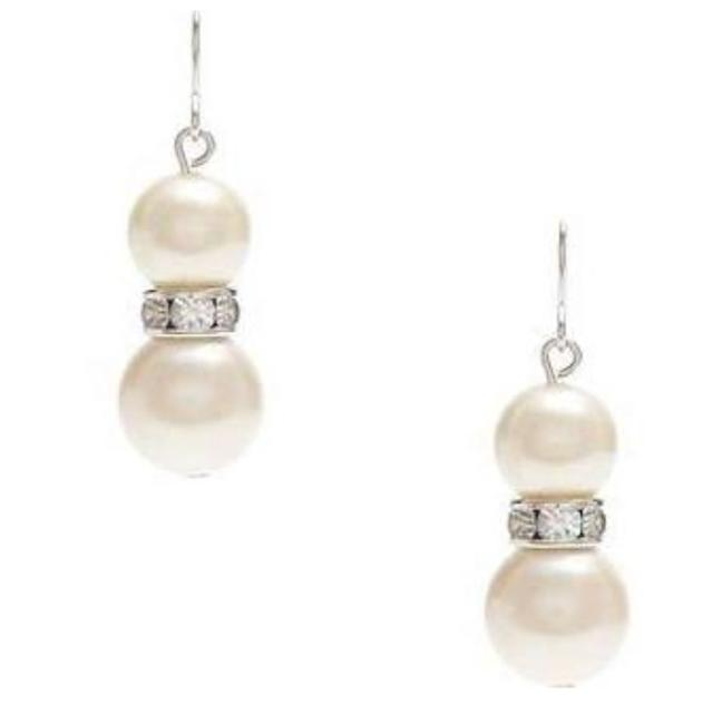 Item - White and Gold Pearl Earrings