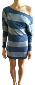 Hard Tail short dress gray and blue on Tradesy