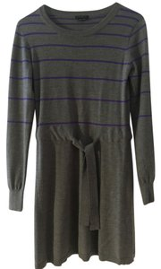 Theory short dress Gray with Purple Stripes Sweater on Tradesy