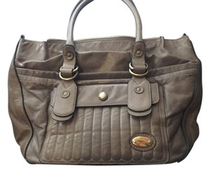 Chloé Leather Chloe Chloe Bay Tote in Taupe/Lt. Brown