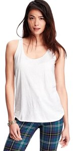 Old Navy Racerback Raw Edge Small Top White