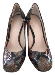 Nine West Brown/ green skin Pumps