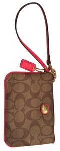 Coach Wristlet in Brown/red/orange