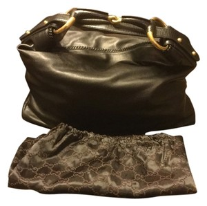 Gucci Horsebit Leather Hobo Bag