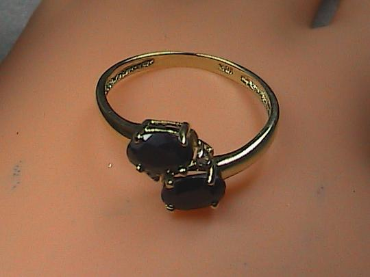 Other 1.0 cts 10k Solid Yellow Gold Black Sapphire & Diamond Ring