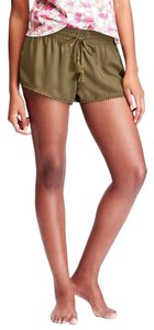 Old Navy Lounge Rayon Mini/Short Shorts Green