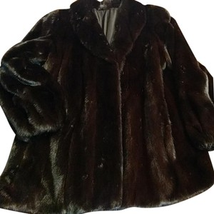 Byron Lars Beauty Mark Mink Female Pelt Stroller Style Color Size L Fur Coat