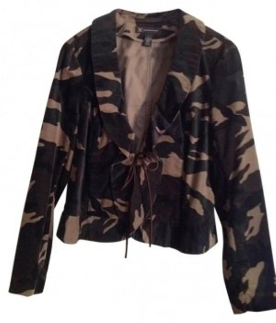 INC International Concepts Camouflage green velveteen Jacket