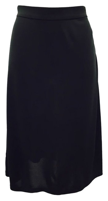 DKNY Stretchy Dryclean Only Side Zipper Skirt Black