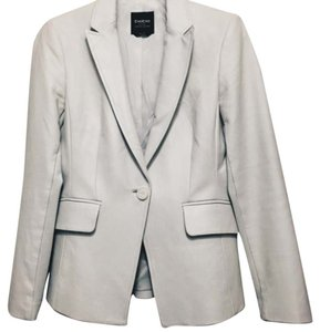 bebe Leather Leather Jacket Jacket Leather White Blazer