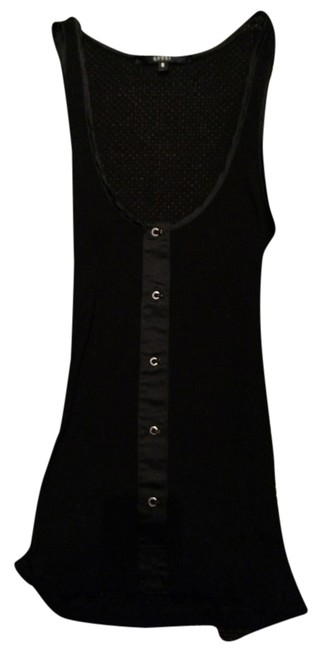 Gucci Black Ribbed with Embossed Silver Hooks Tank Top/Cami Size 4 (S) Gucci Black Ribbed with Embossed Silver Hooks Tank Top/Cami Size 4 (S) Image 1