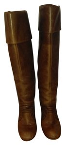 Miss Sixty Knee High Leather Italian Brown Boots