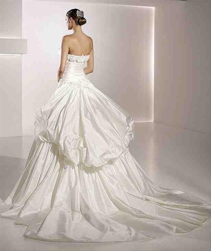 Pronovias white taffeta mistico formal wedding dress size Wedding dress xs