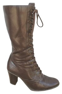 Naturalizer Lace-up Victorian Brown Boots