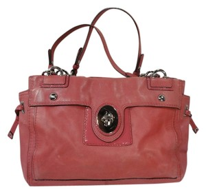 Coach Peyton M0973-14522 Handbag Leather Satchel in Pink
