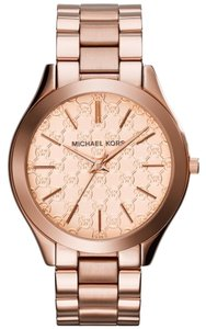 Michael Kors MK Logo Dial Print Rose Gold Classic Ladies Watch
