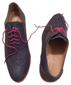 Cole Haan Navy blue with magenta laces Flats