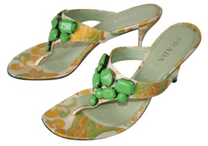 Prada yellow/green Sandals