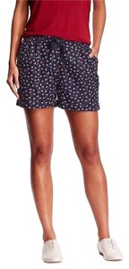 Old Navy Cuffed Flannel Large Cotton Mini/Short Shorts Blue