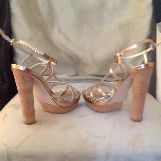 Ann Taylor Metallic Sandals