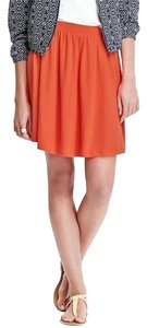 Old Navy Jersey Circle Mini Skirt Orange