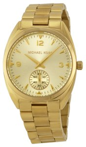 Michael Kors Gold Stainless Steel Designer Watch