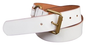 Gap Genuine Leather Belt in White - Size S