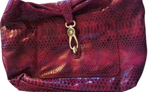 Dooney & Bourke D&b Snakeskin Logo Lock Hobo Bag