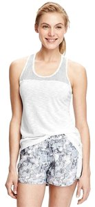 Old Navy NWT women's Old Navy Active Mesh-Back Burnout Tank White Large NEW