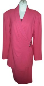 Nipon Boutique Womens 2 PC Skirt Suit, Size 12, Coral