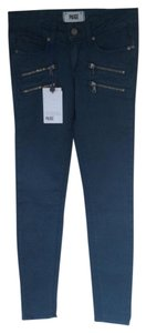 PAIGE EDGEMONT DENIM Skinny Jeans-Medium Wash