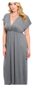 Gray Maxi Dress by Other Professional Date Night Kimono Slimming Plus Size Curvy True To Size Womens Juniors Party Dinner Chico Lane Bryant