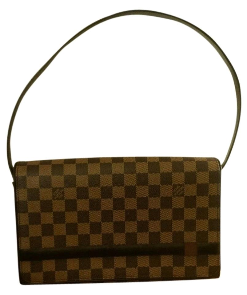 15308ae7d75bb Louis Vuitton Tribeca long Lv Damier Ebene Hand Checkered Brown ...