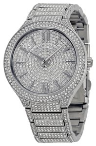 Michael Kors Crystal Pave Silver tone Encrusted Luxury Dress ladies Watch