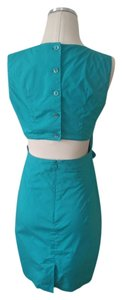 Club Monaco short dress Turquoise Cut-out Backless on Tradesy