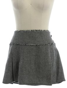 Sharagano Tweed Wool Mini Mini Skirt Black and White
