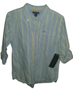 Tommy Hilfiger Button Down Shirt Light blue/yellow