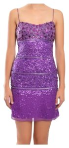 Aidan Mattox Party Sequins Mini New Years Dress