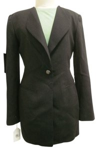 Dana Buchman Dress Elegant New black pinstripe suit Jacket