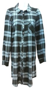 Joie short dress blue/black Blue Black Plaid Button Down on Tradesy