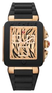 Michele Nwt Michele jelly bean black rose gold tiger dial watch $395