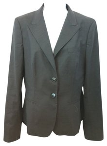 Max Mara Brown Wool Jacket 42 DARK BROWN Blazer